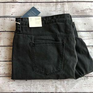 High rise straight black cutoff jeans size 16
